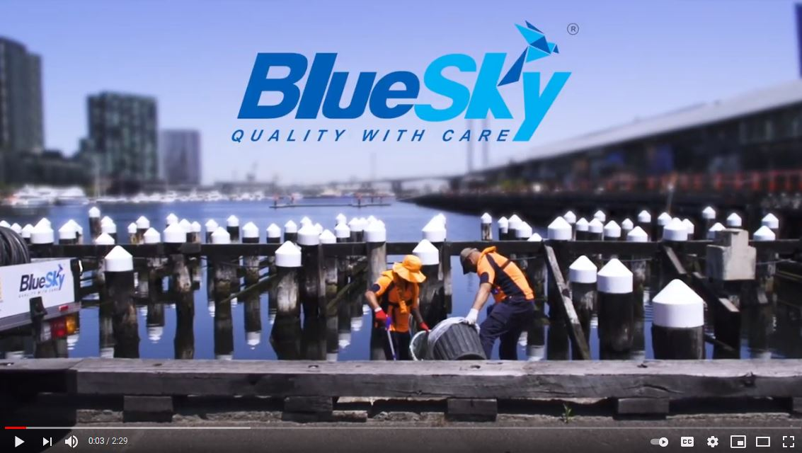 Blue Sky cleaning services video