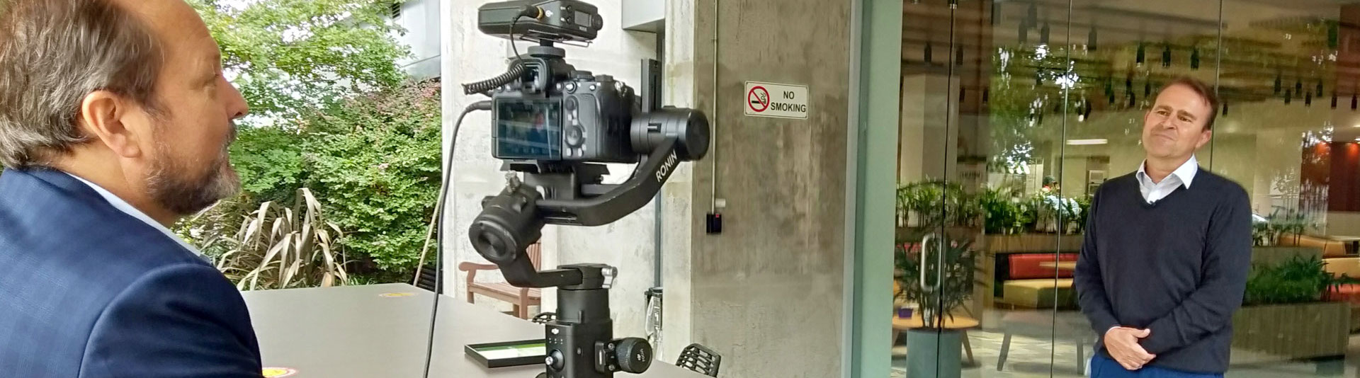 Filming interview with Sony a7s camera on a Ronin S gimbal