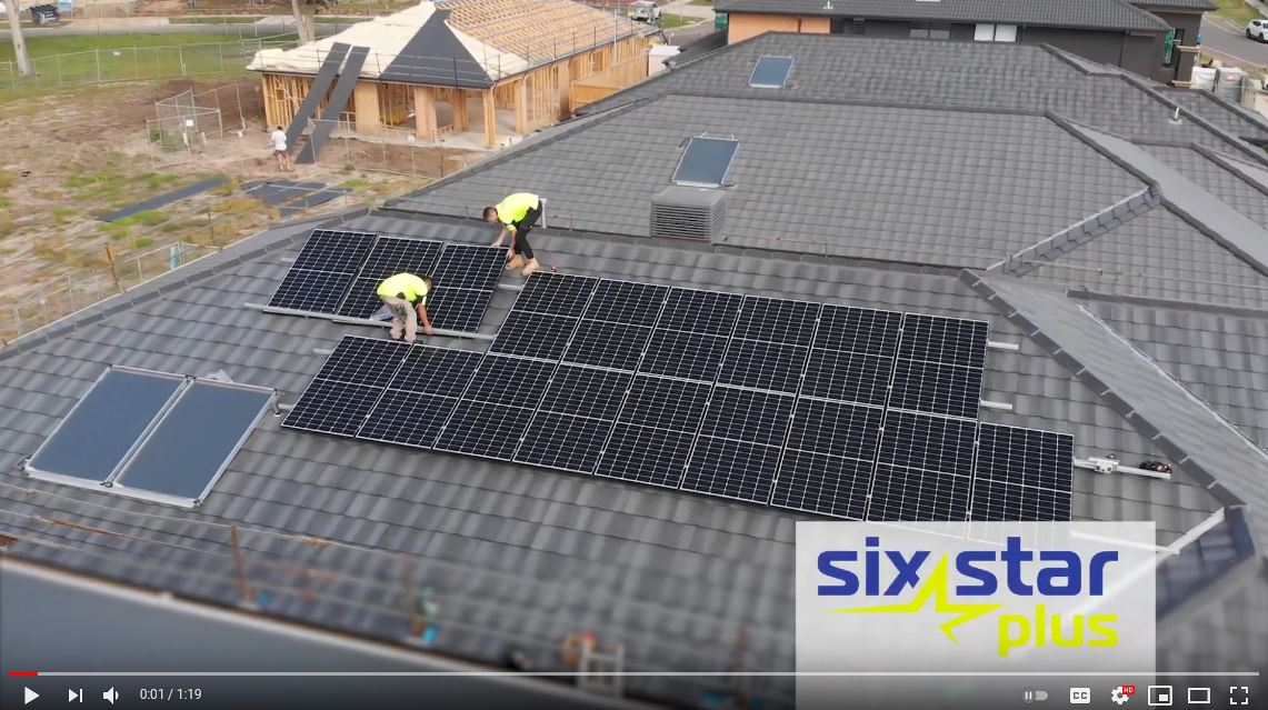 Solar panels being installed for six star plus